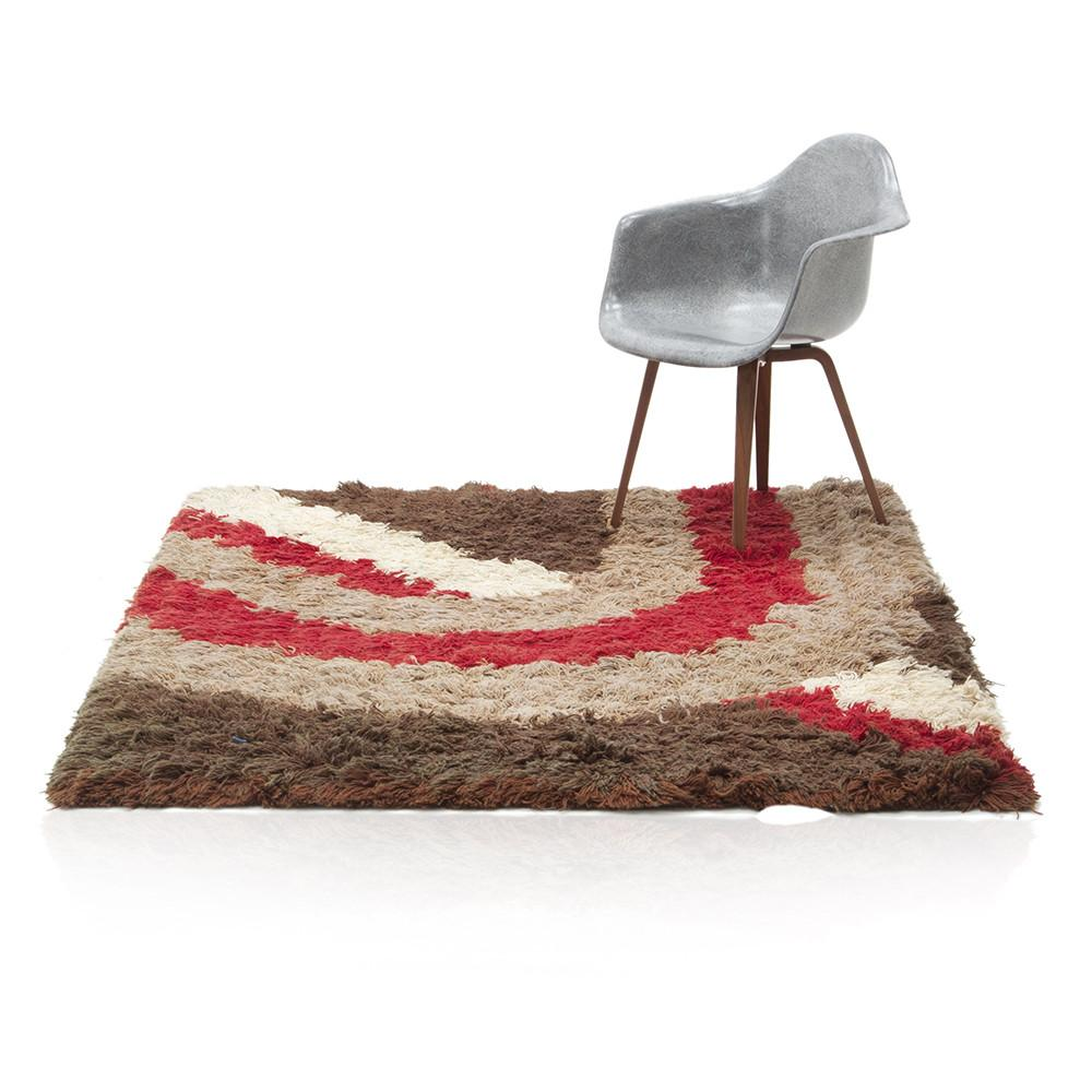 Red White Brown Striped Rug Modernica Props