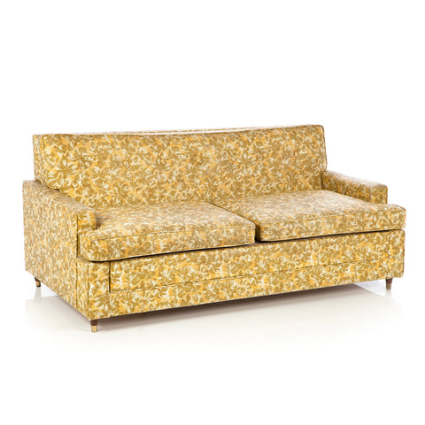 Floral Vinyl Green/Yellow Love Seat