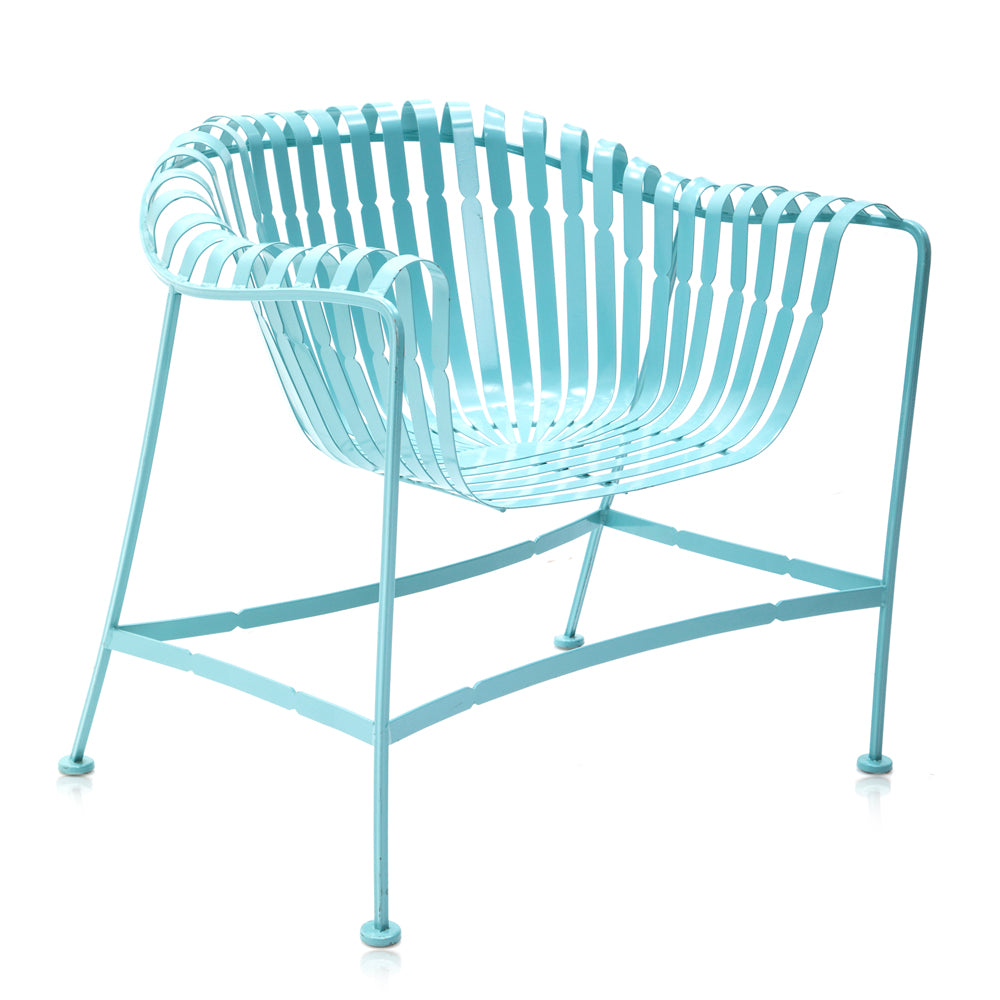 Aqua Blue Metal Outdoor Chair