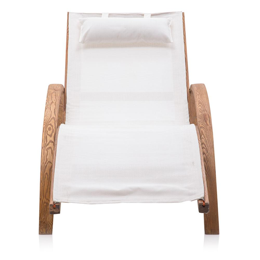 Wood Outdoor Chaise