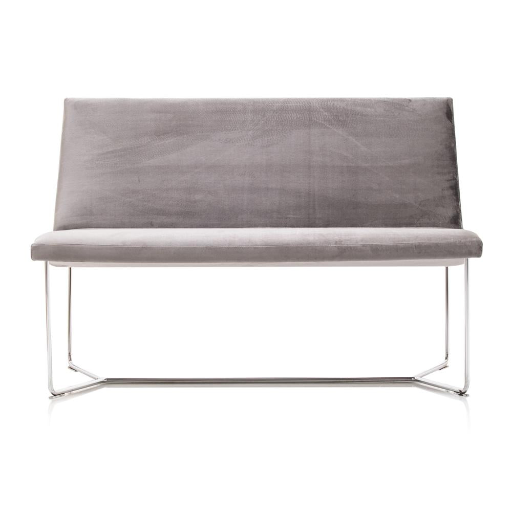 Charcoal Grey Love Seat