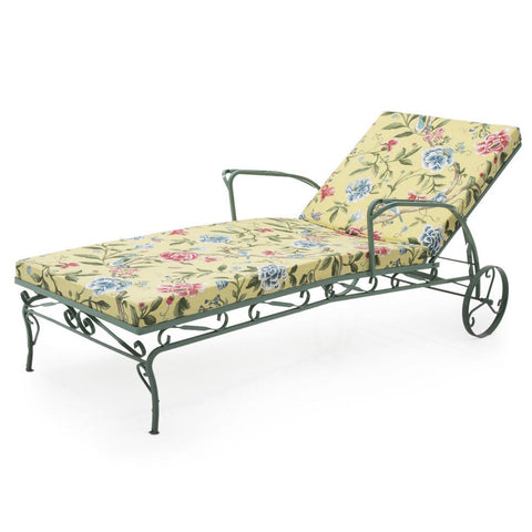 Floral Traditional Chaise