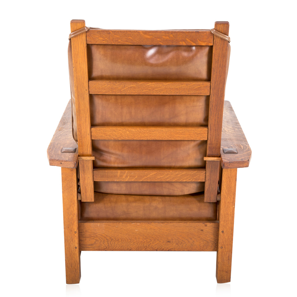Brown Leather Morris Chair