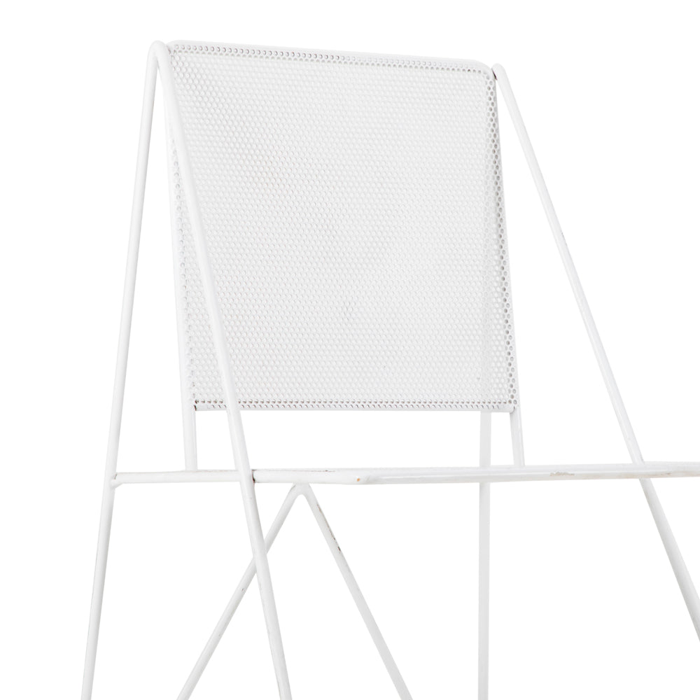 White Metal Outdoor Chair