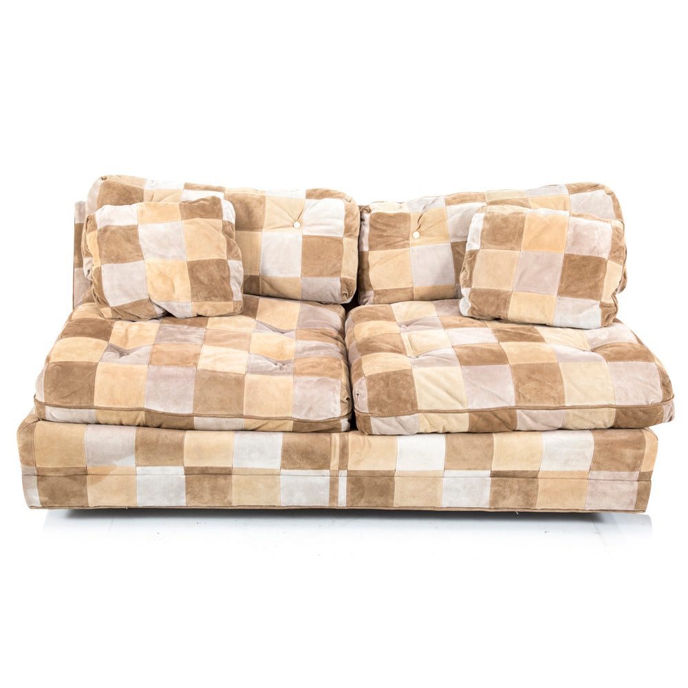 Checkerboard Fabric Sectional