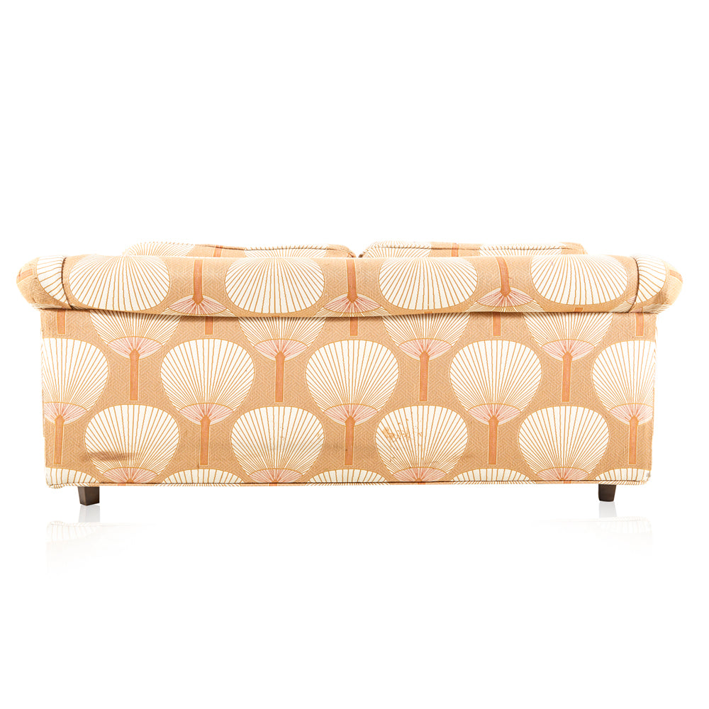 Beige Peach Fan Pattern Sofa