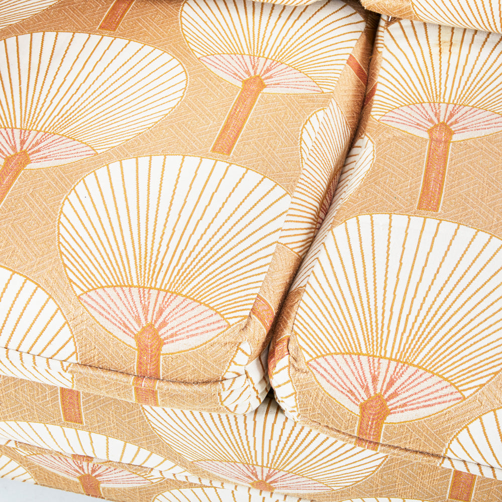 Beige Paper Fan Sofa