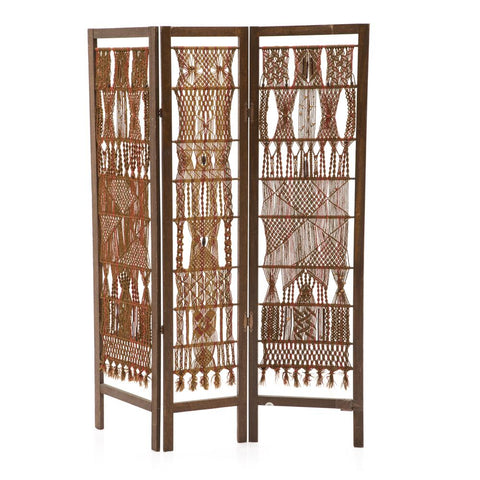 Brown and Red Tapestry Divider