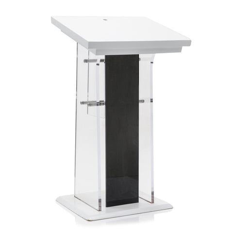 Acrylic Black and White Podium