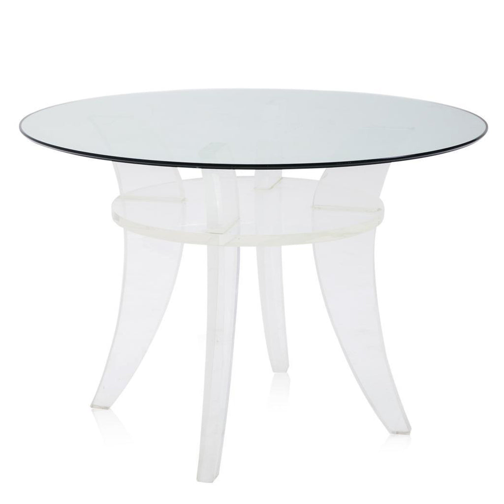 Four-Post Lucite Dining Table