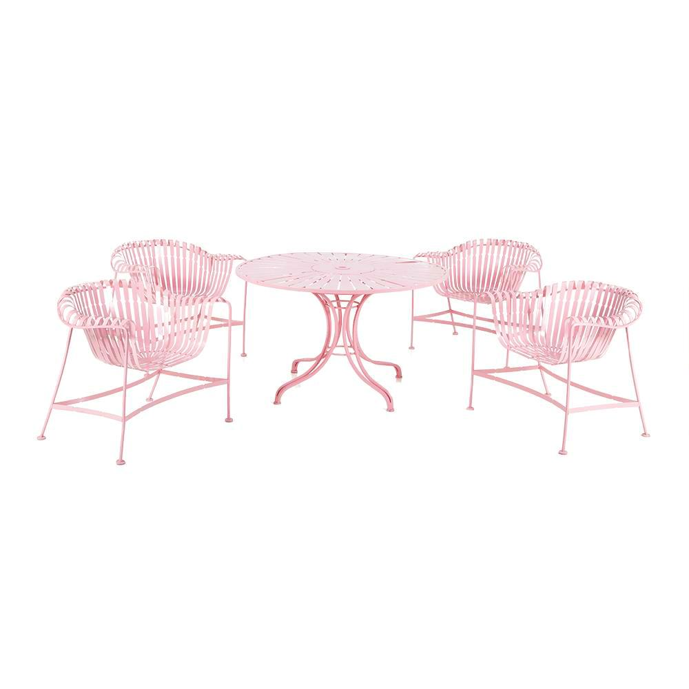 Pink Outdoor Table