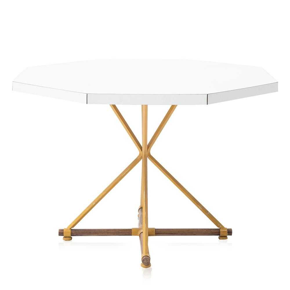 White Hexagonal Dining Table