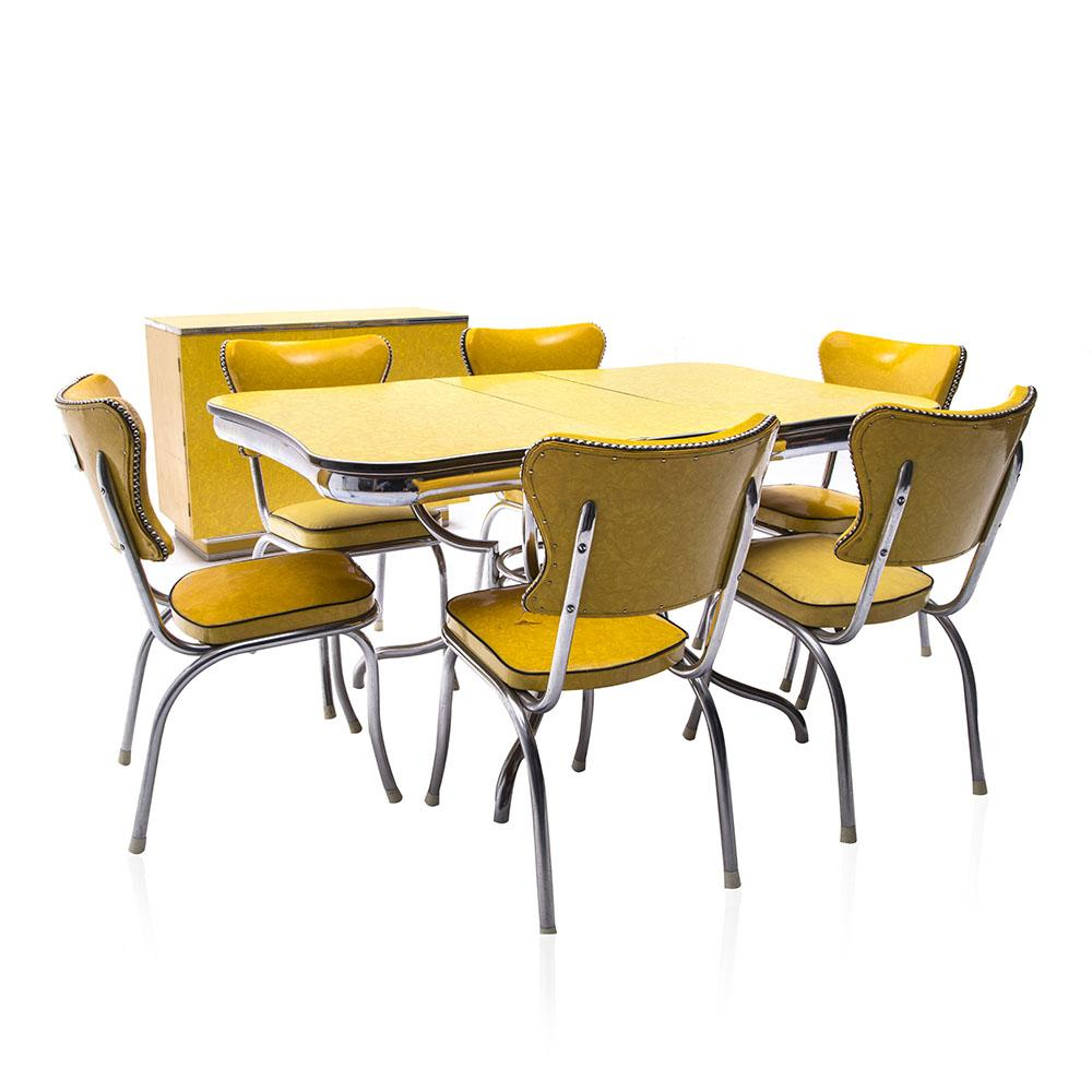 Yellow Formica Kitchen Table Modernica Props
