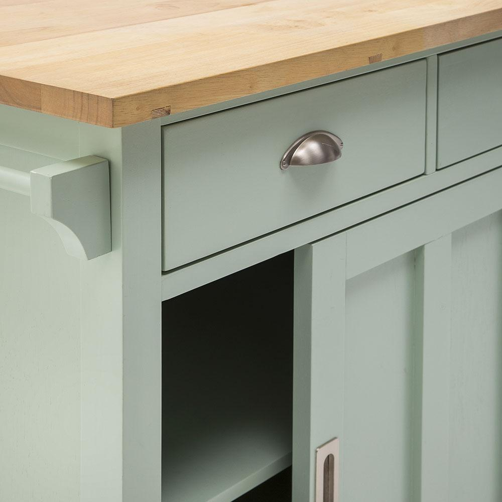 Blue Wood Kitchen Island