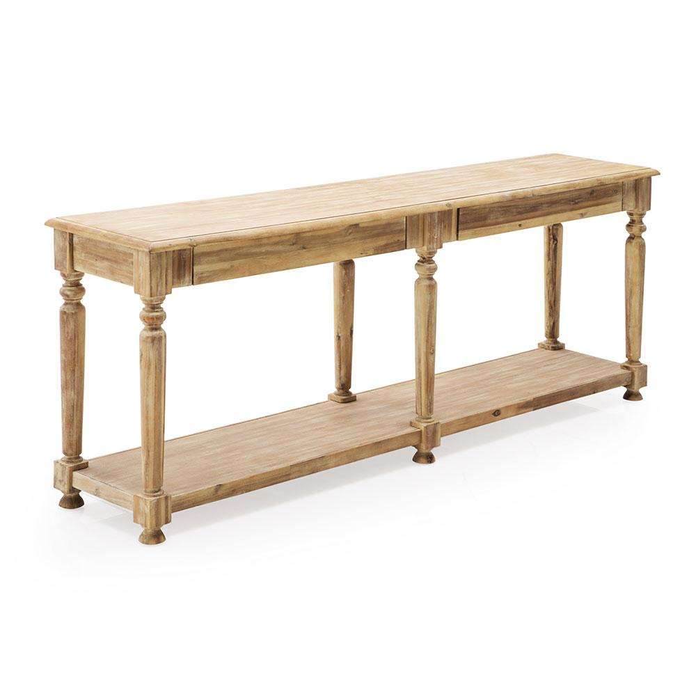Sanded Wood Console