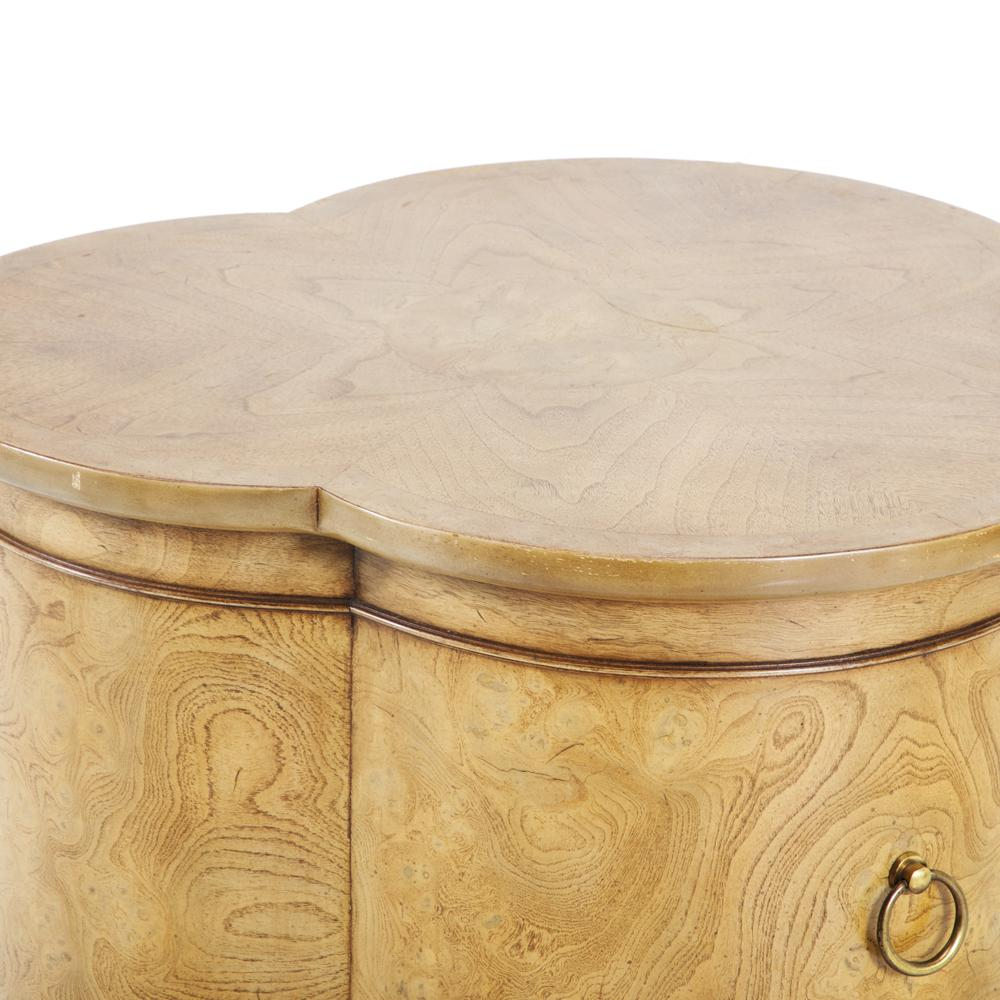 Ash Wood Clover Shape Side Table