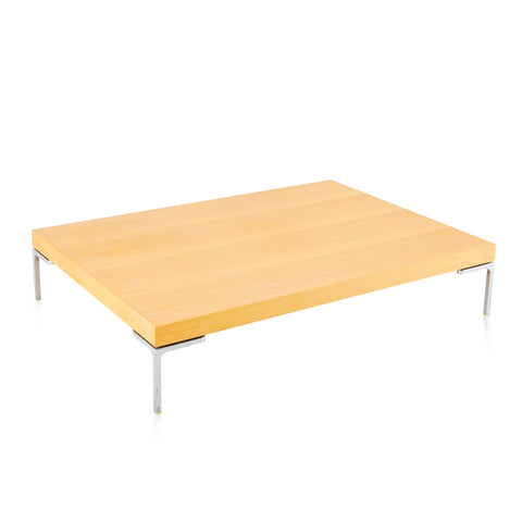 Beige Wood Grain Coffee Table