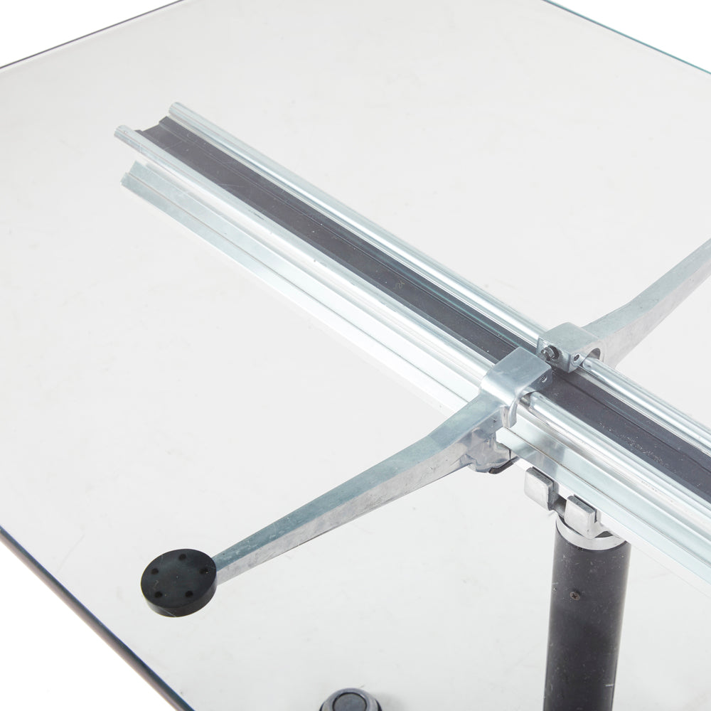 Clear Glass Conference Table