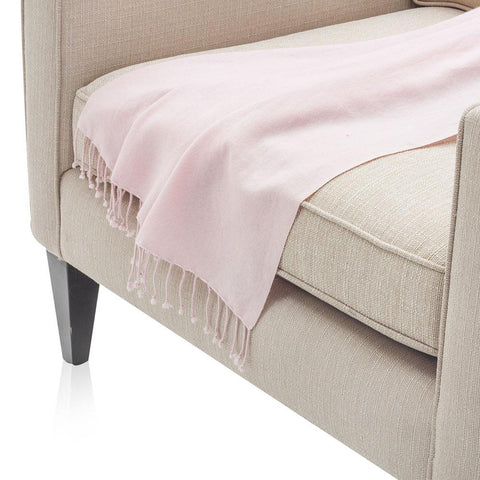 Baby Pink Pashmina Wool Throw