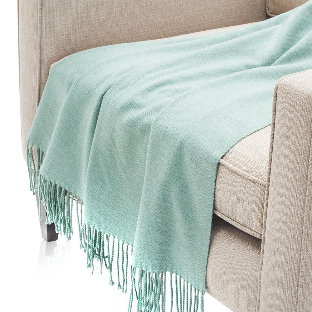 Thin Aqua Blue Throw