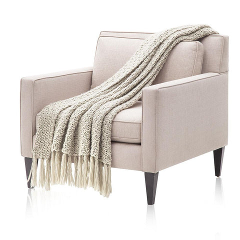 Beige Loose Knit Throw