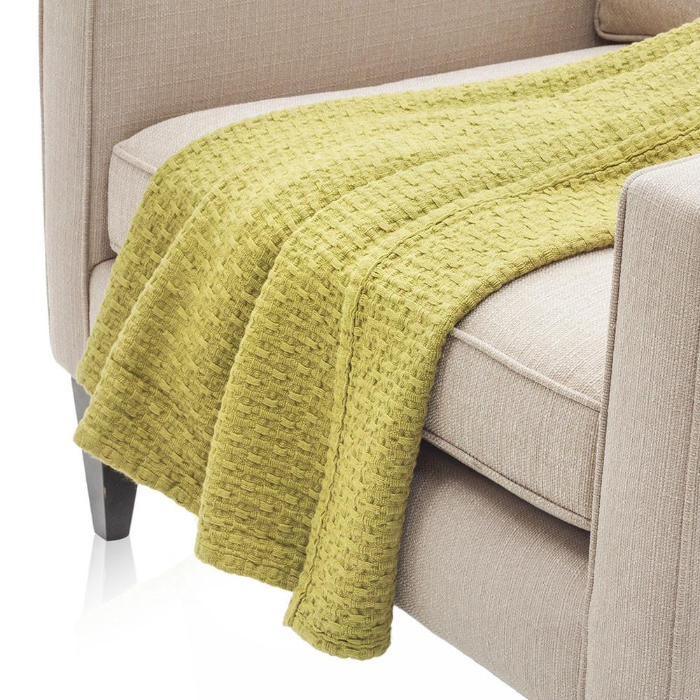 Bright Chartreuse Throw