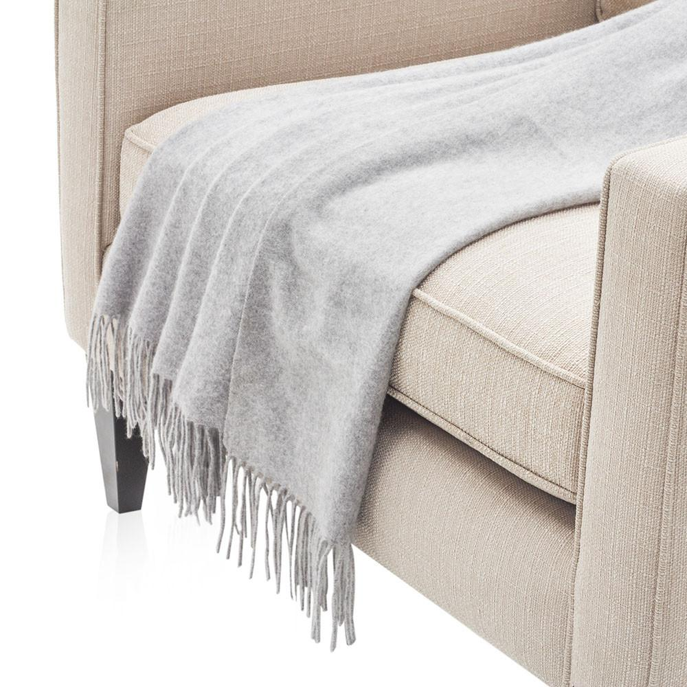 Delicate Light Grey Throw