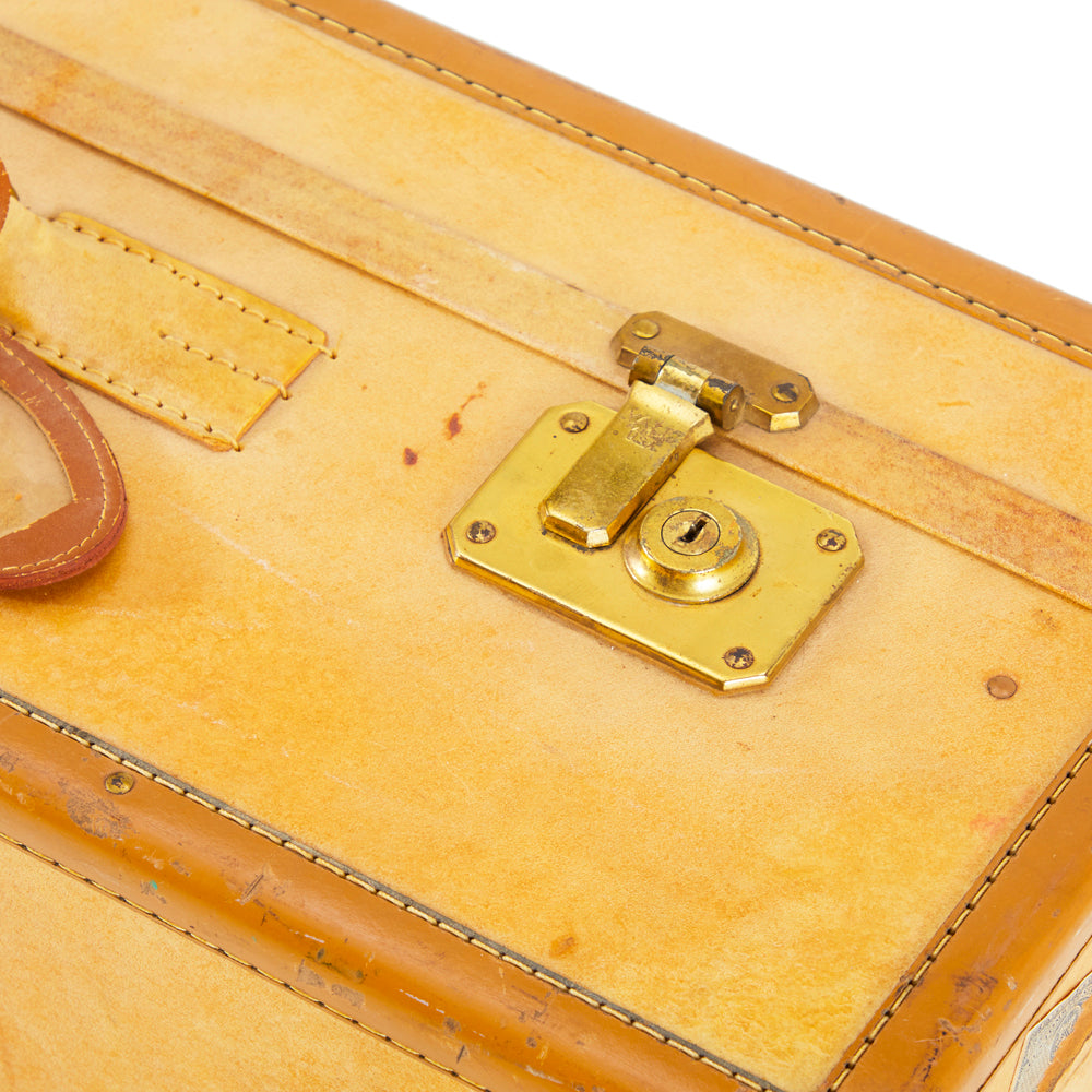 Antique Tan Leather Luggage Set
