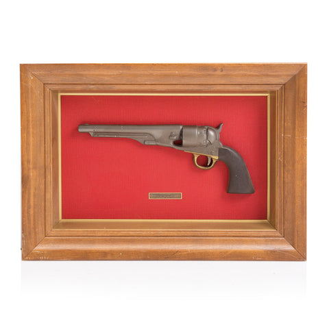 Antique Pistol in Wood Frame