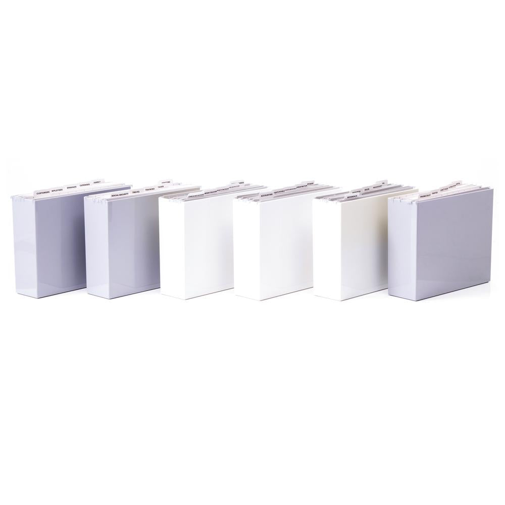 White/Grey Plastic File Folder