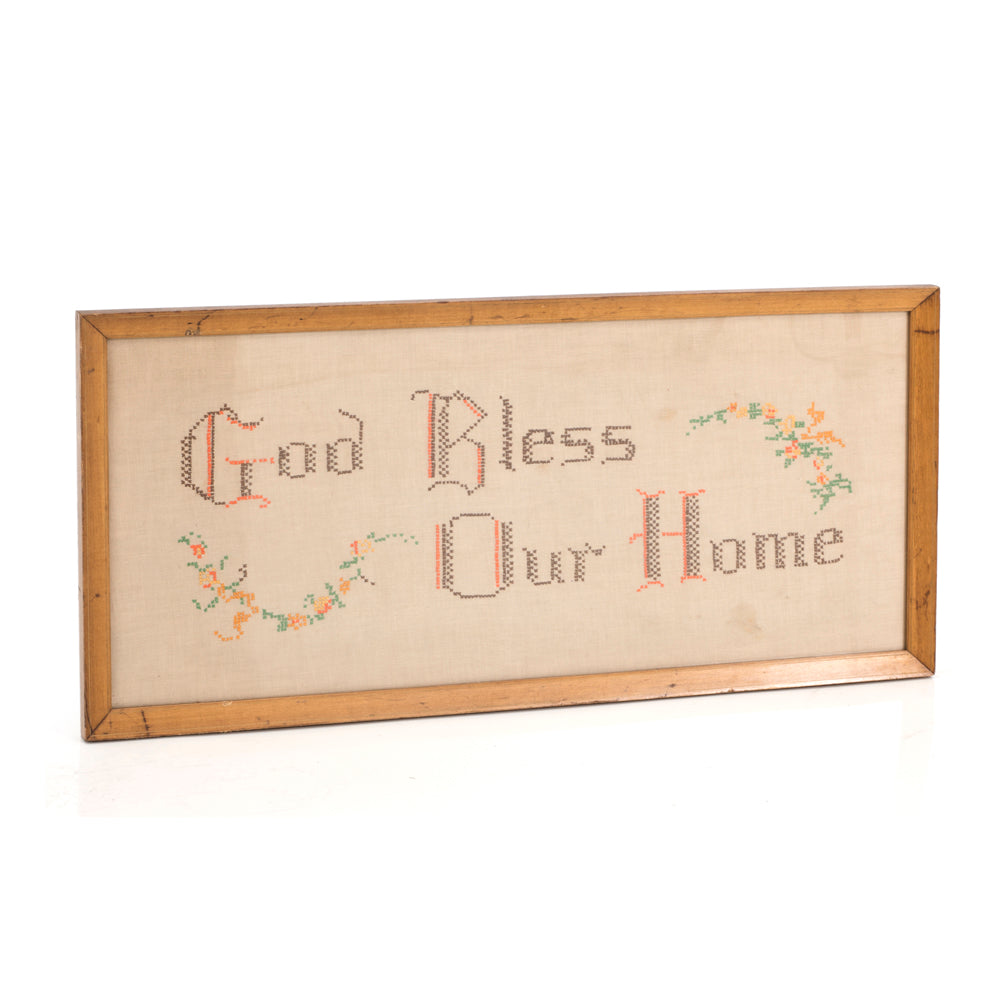 Bless Our Home Cross Stitch Framed Art