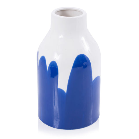 Blue Wave Bottle Vase