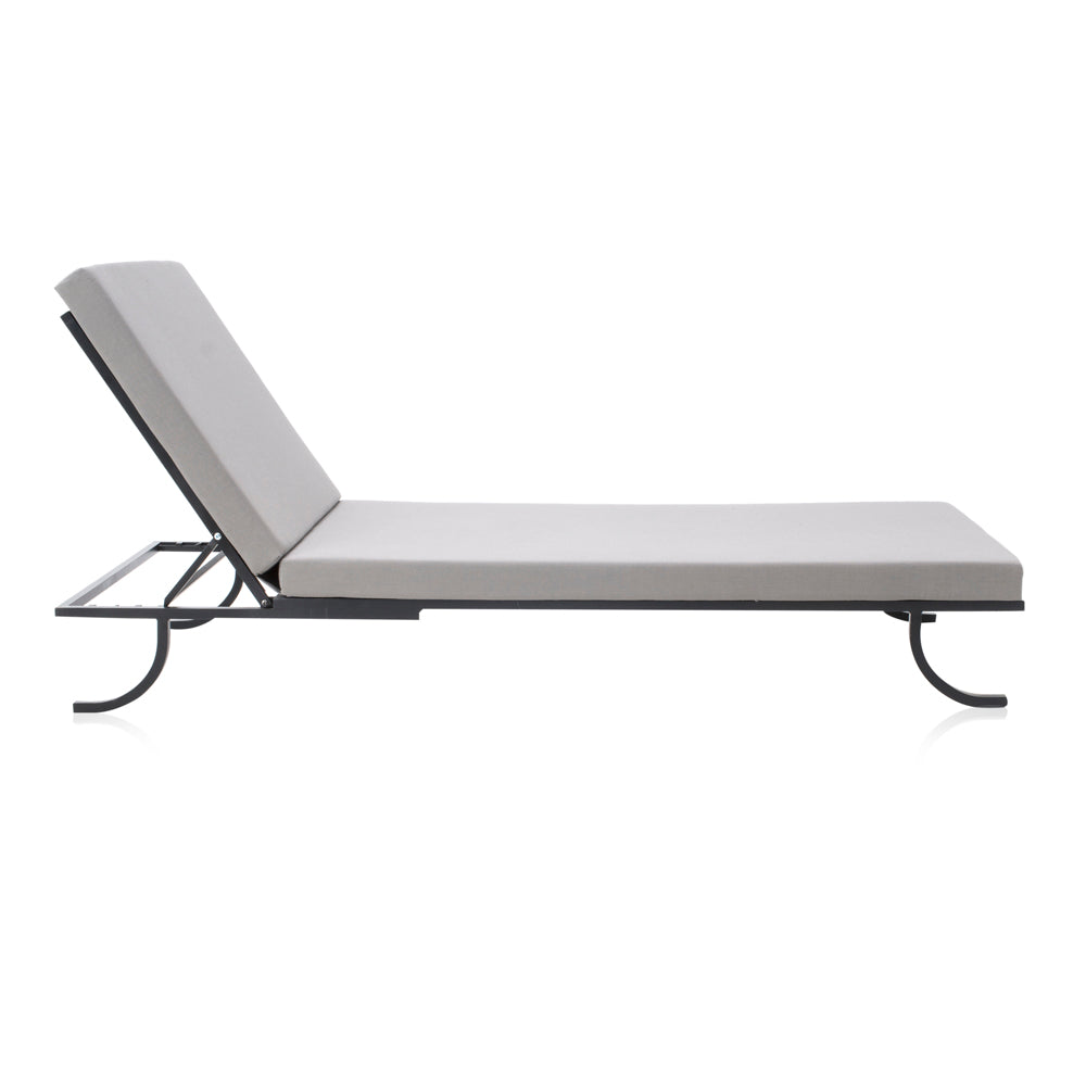 Grey Outdoor Chaise