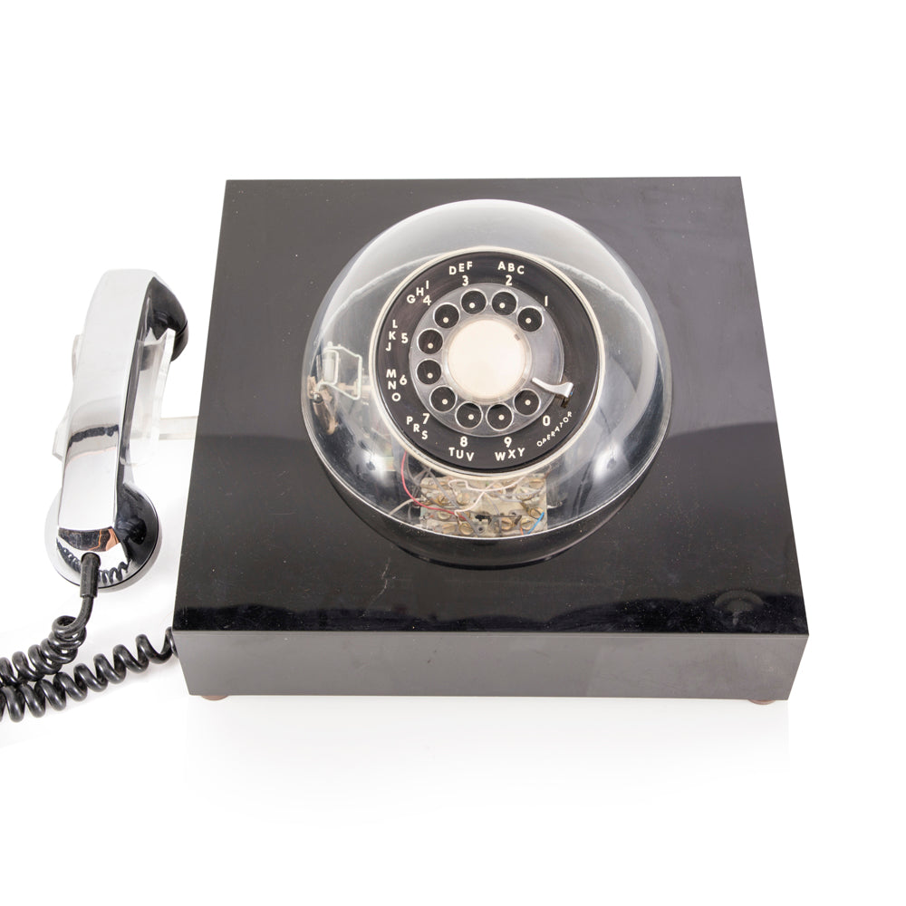 Black Dome Rotary Phone