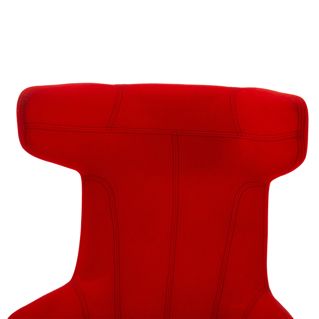Red Moroso Wingback Lounge Chair