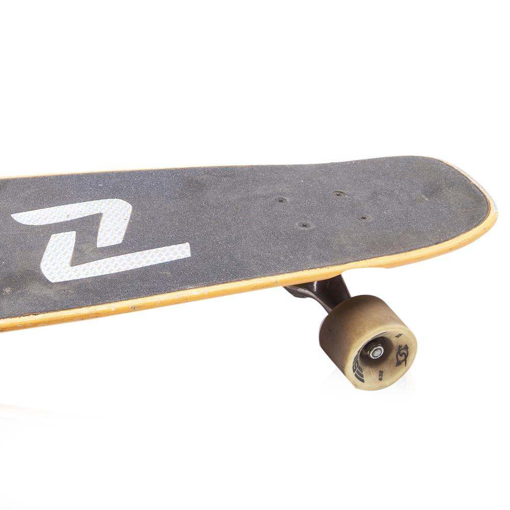Black and Yellow Wood Skateboard