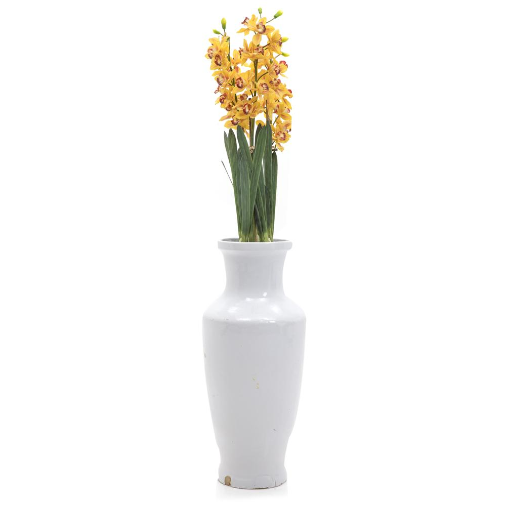 White Tall Pot