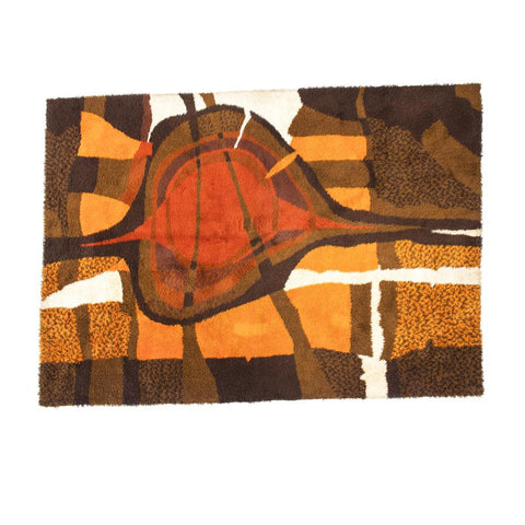 Autumnal Colored Vintage Rug
