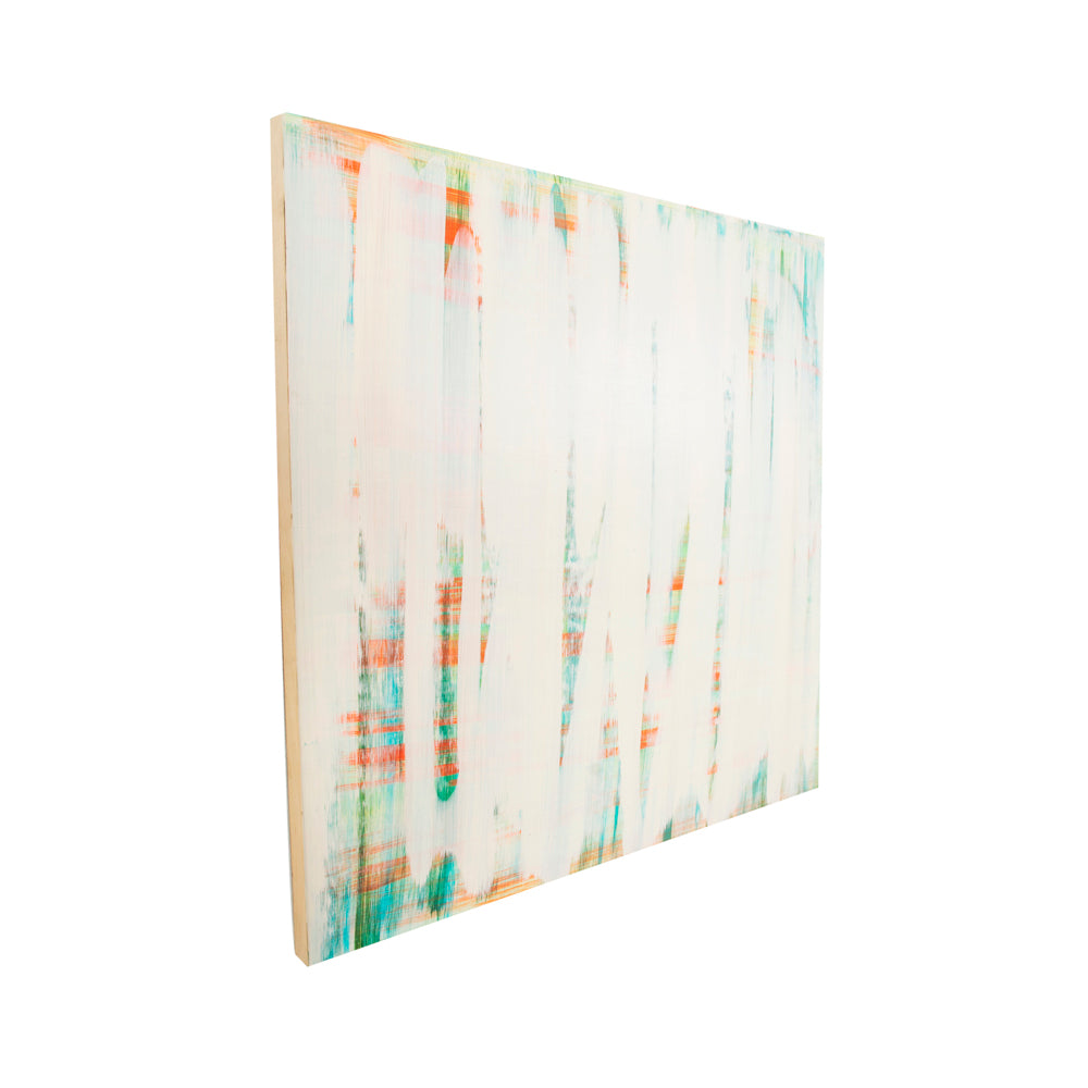 "100-1053 IvoryStripes Blue Abstract (30"" x 30"")"
