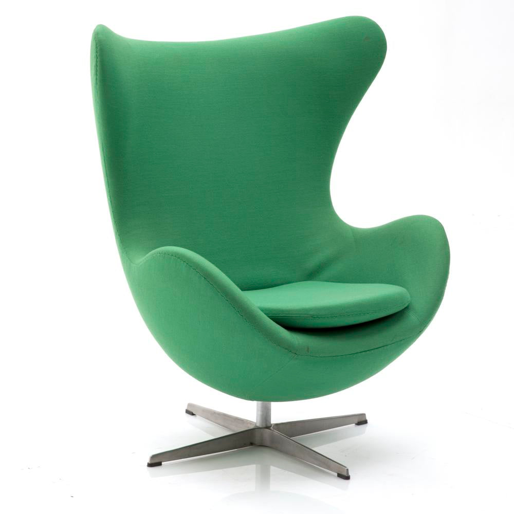 Egg Chair Green Fabric