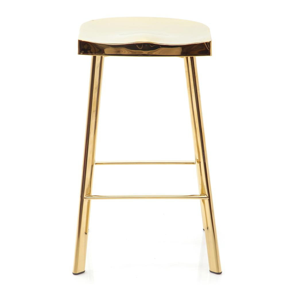 Gold Metal Stool