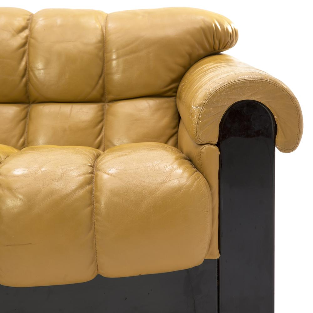 Carmel Leather Roll Sofa