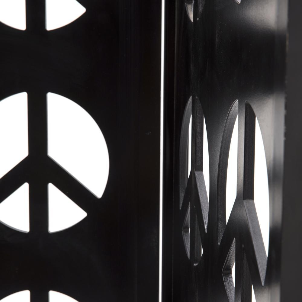 Black Peace Sign Screen