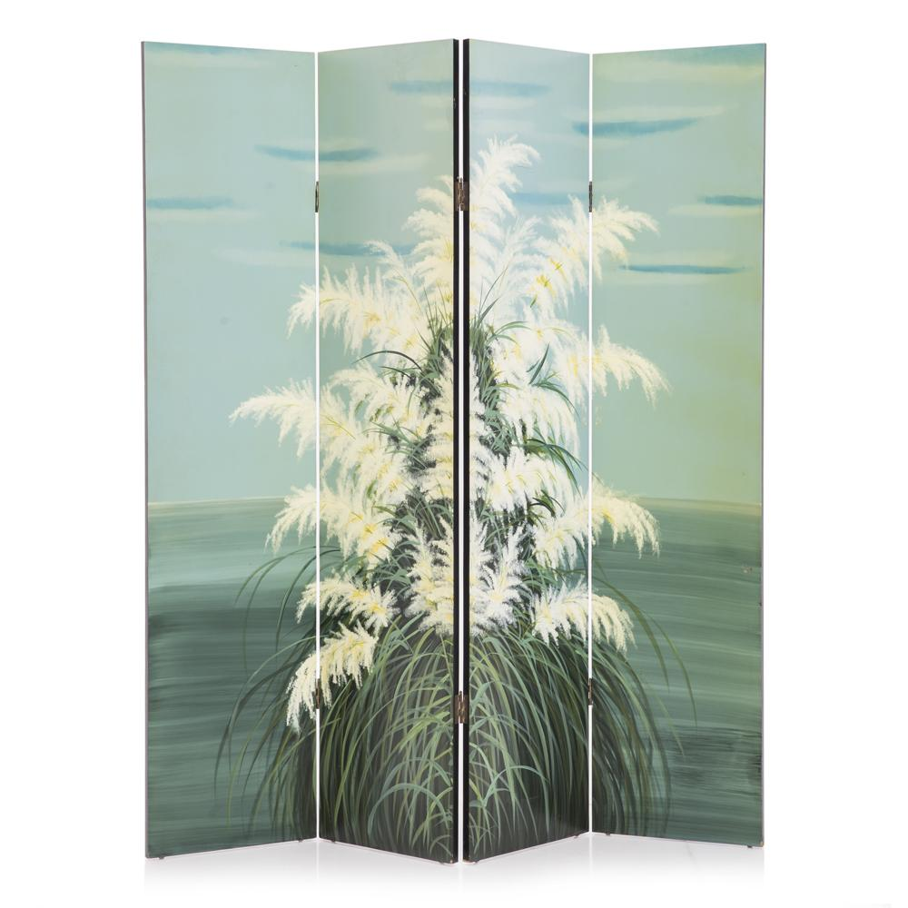 Pampas Grass Painted Screen