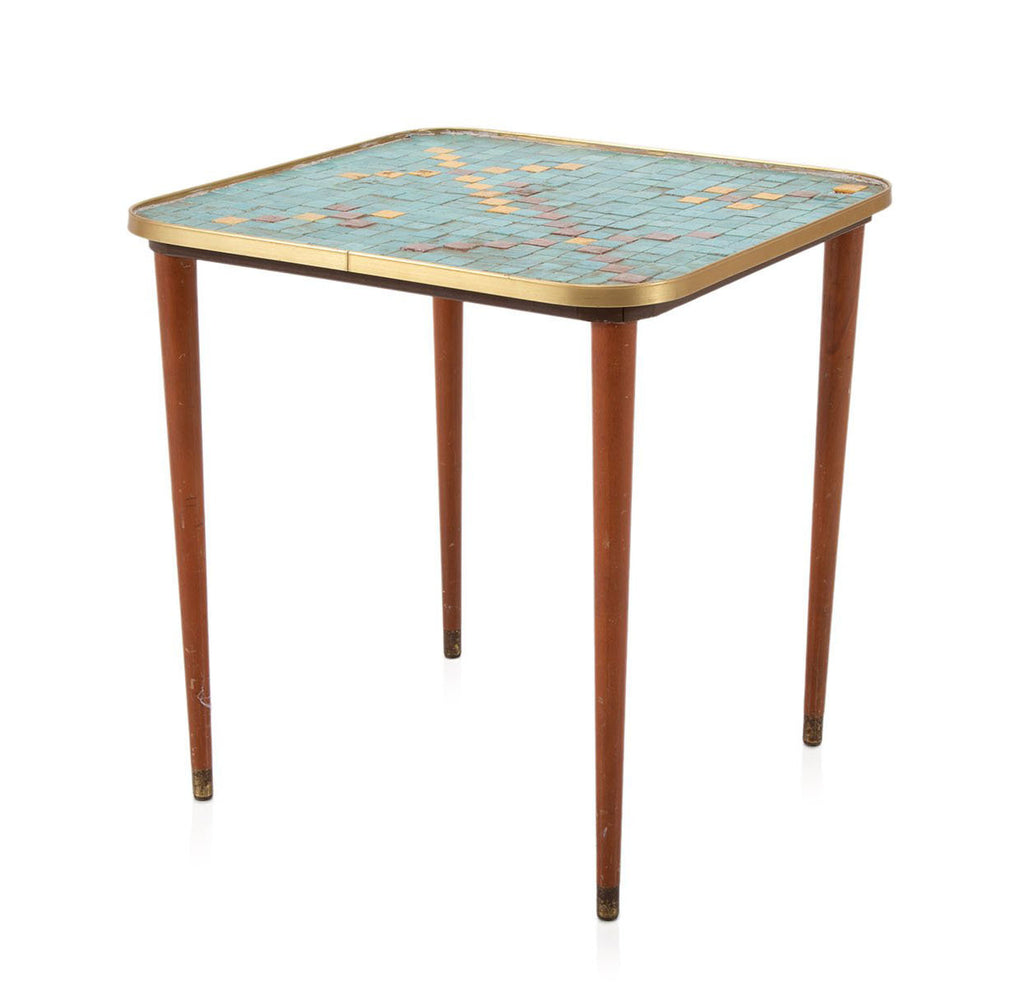 Teal Mosaic Side Table