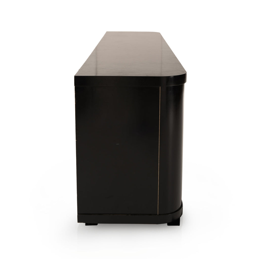 Large Black Console Reception Desk