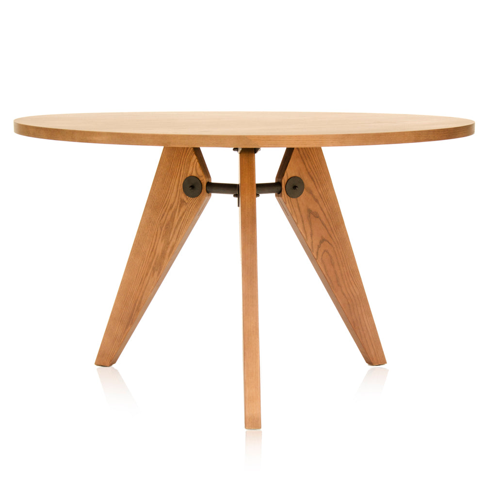 Prouve Round Wood Dining Table