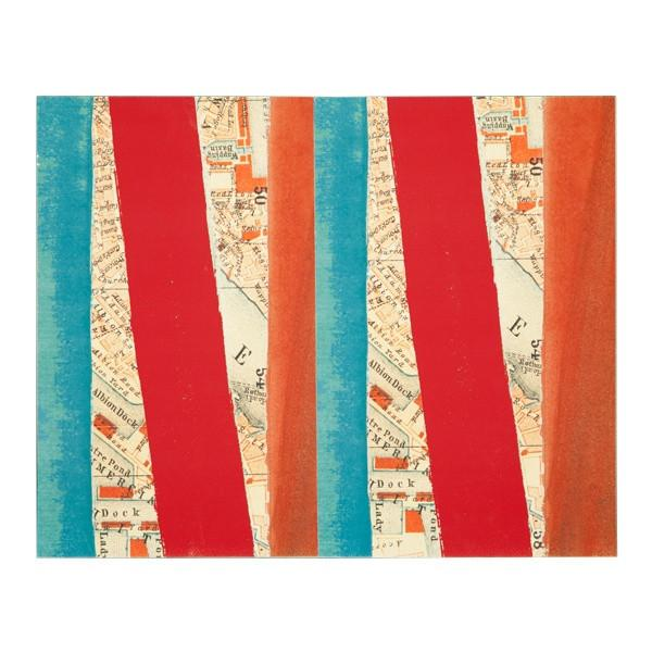"100-289 Map with Stripes (20"" x 16"")"