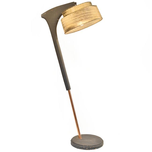 Copper Black Slanted Floor Lamp