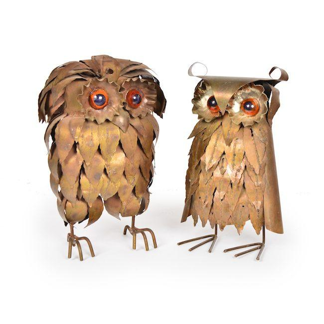 Brass Metal Owls